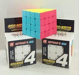 Кубик Рубіка 4*4*4 Qiyi Cube матовий кольоровий пластик