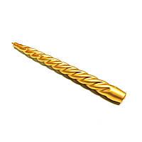Свеча перламутровая витая золотая 26см