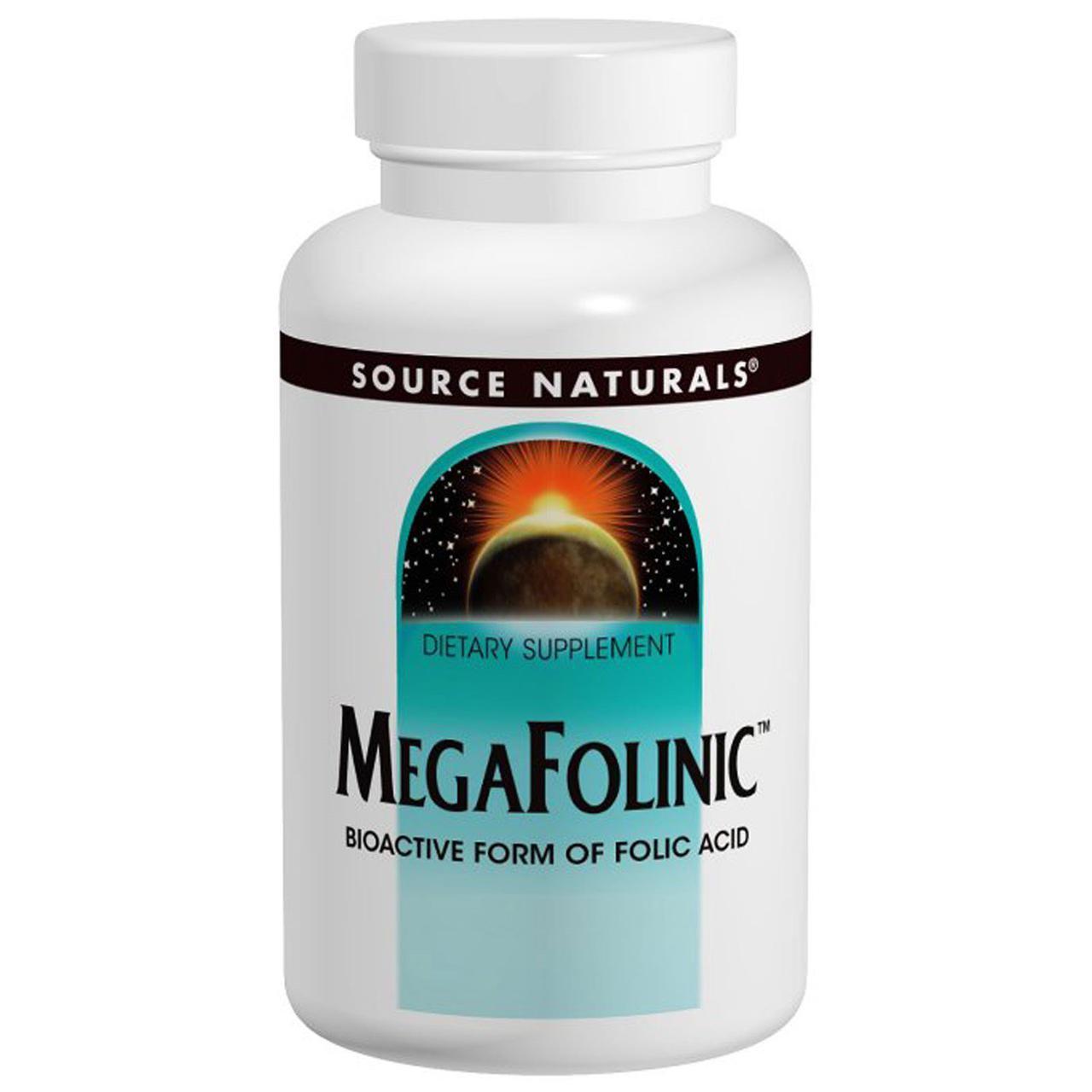 Source Naturals MegaFolinic  800 mcg фолиевая кислота -120 табл