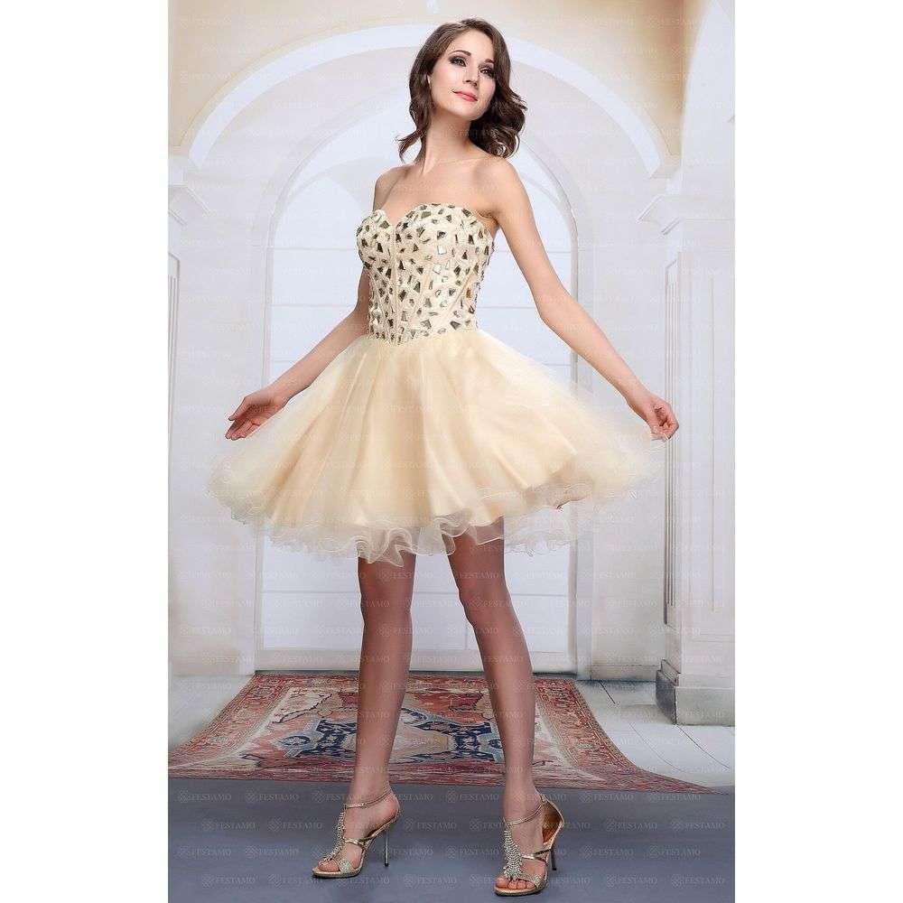 Женское платье от Festamo - шампанское - Мкл-F2104-шампанское