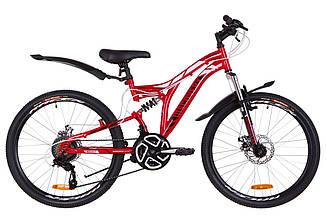 """Велосипед Discovery ROCKET DD 24"""" 2019 красно-белый с черным"""