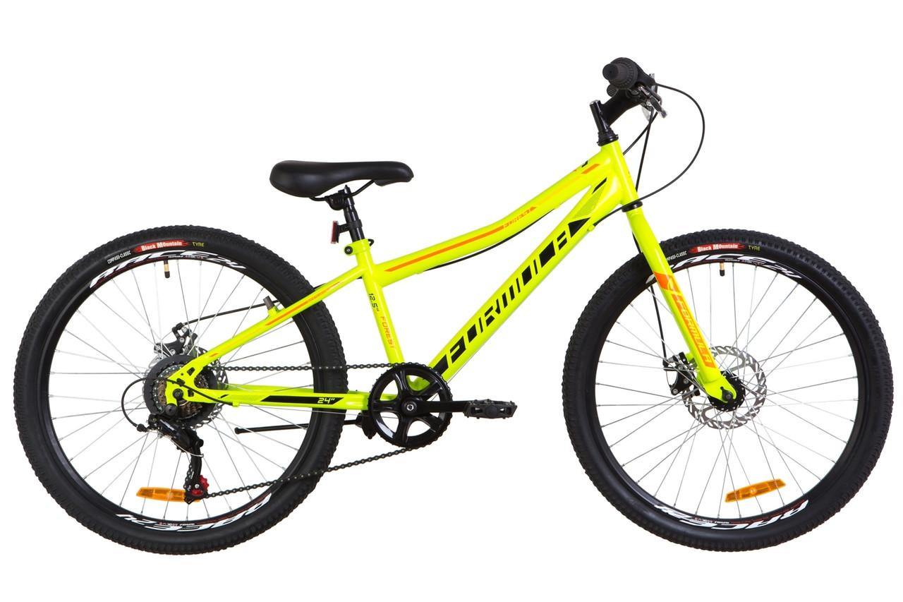 """Велосипед Formula FOREST RIGID DD 24"""" 2019 зеленый с оранжевым"""