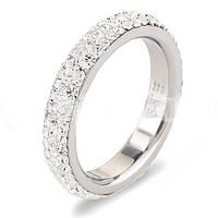 Женское  кольцо из ювелирной стали Swarovski Elements стальное 3мм