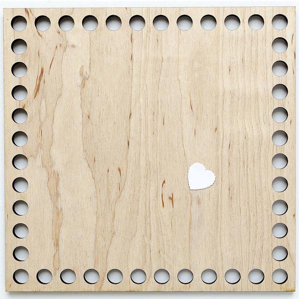 Деревянная заготовка квадрат 250 мм