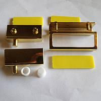 Петли для стекла +ручка золото