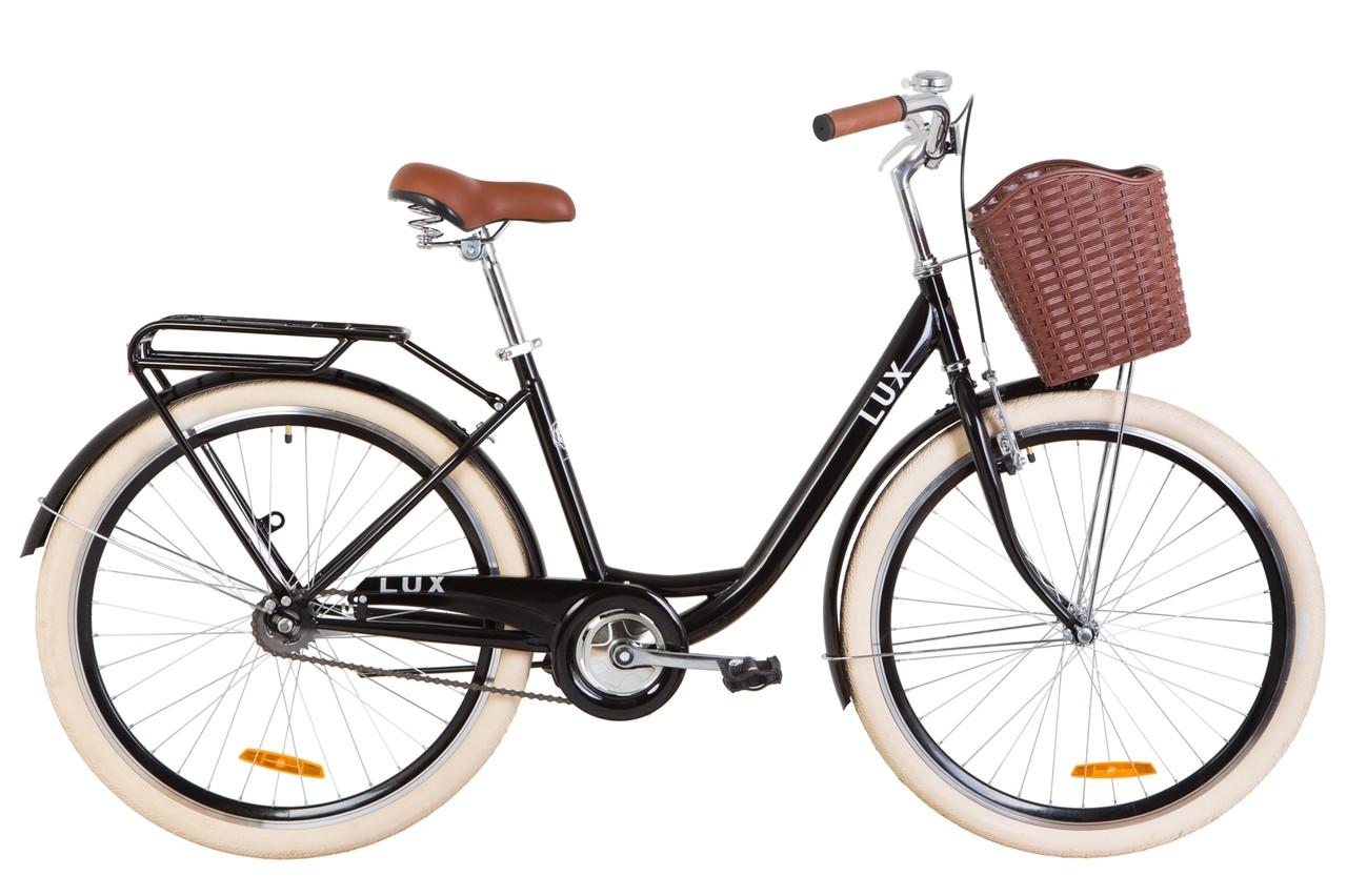 """Велосипед Dorozhnik LUX 26"""" 2019 черный"""