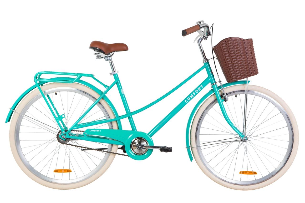 "Велосипед Dorozhnik COMFORT FEMALE 28"" 2019 бирюзовый"