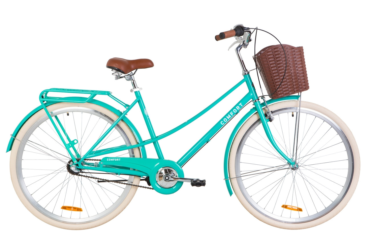 "Велосипед Dorozhnik COMFORT FEMALE PH 28"" 2019 бирюзовый"