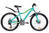 """Горный женский велосипед DISCOVERY KELLY AM DD 26"""" (бирюзово-салатный)"""