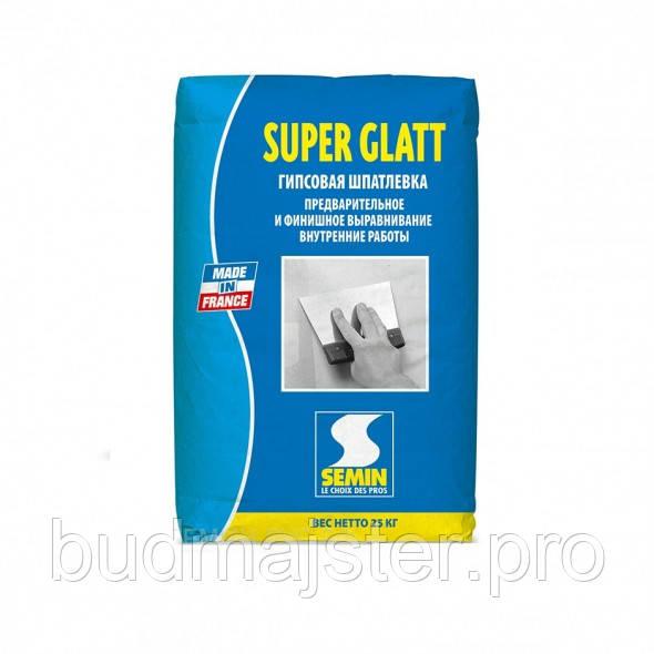 Шпаклівка для внутрішніх робіт Semin SUPER GLATT, 25 кг