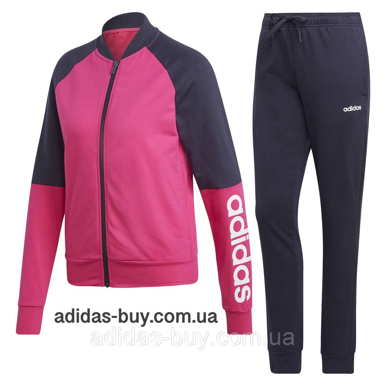 edd89698 Костюм женский оригинальный adidas спортивный DV2437 цвет: розовый / синий  - ORIGINAL SHOES (магазин