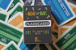 Англійські картки -ING or INF. Flashcards