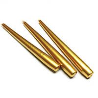 Свеча перламутровая металлик золотая 1шт