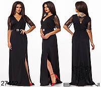 Вечернее платье цвет черный р-р. 48,50,52,54,56,58,60