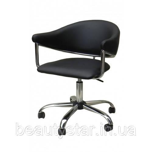 Кресло для клиентов маникюра, стул со спинкой для  мастера НС 8056К