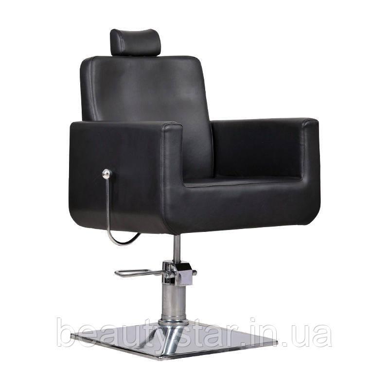 Парикмахерское кресло с регулируемой спинкой Bell bis черное