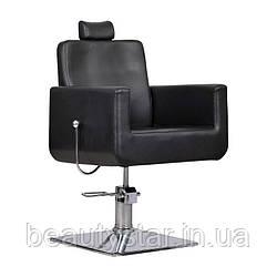 Перукарське крісло з регульованою спинкою Bell bis чорне