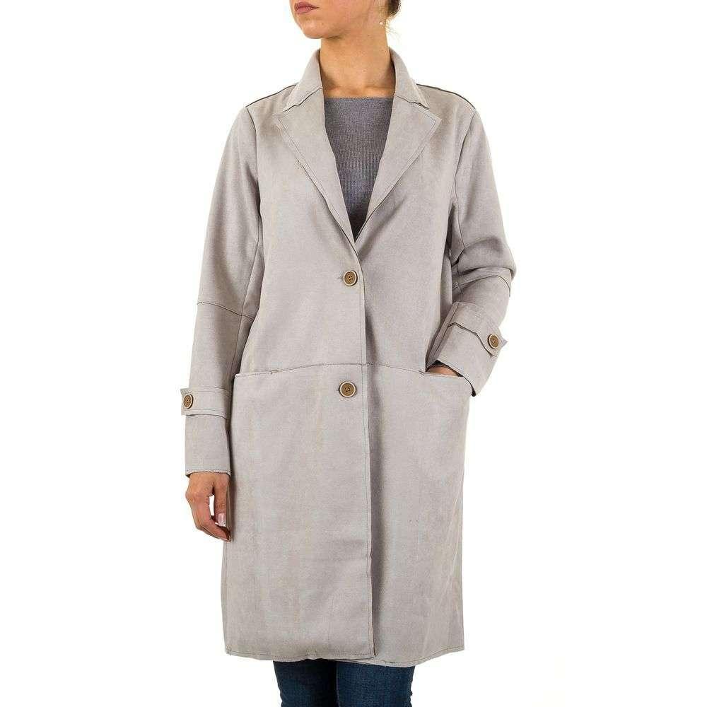 Пальто женское прямое (Европа) Серый