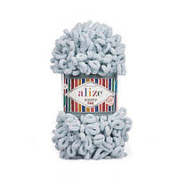 Alize puffi fine (пуффи файн) для вязания руками  - 500 светло-серый