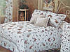 """Двуспальное постельное белье """"Голд"""" цветочки"""