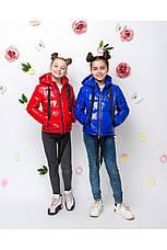 Детская демисезонная куртка для девочки vkd16 , размеры 122-152, фото 2