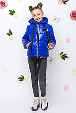 Детская демисезонная куртка для девочки vkd16 , размеры 122-152, фото 3