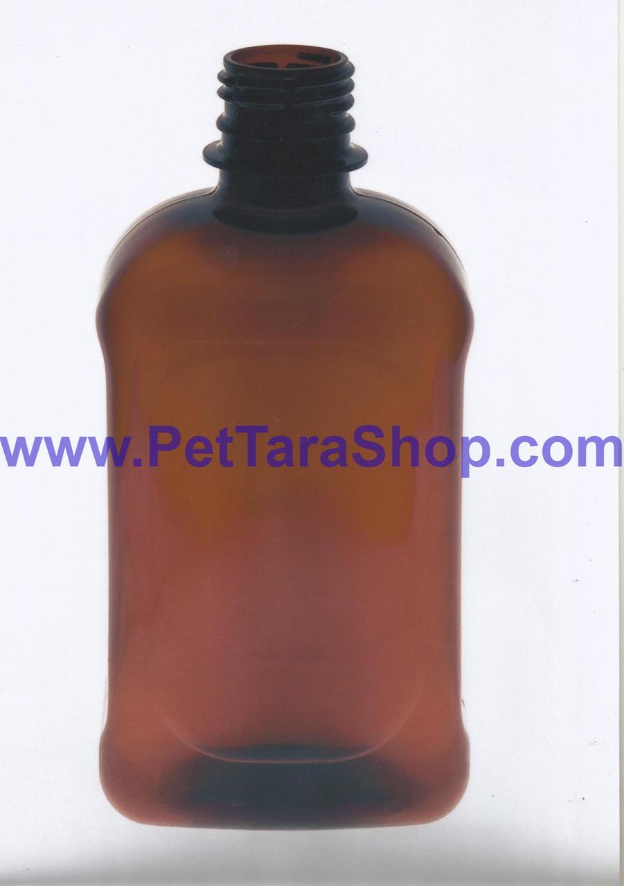 Квадратна пляшка ПЕТ 500 мл Коричнева з кришкою
