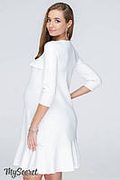 Платье с воланами для беременных и кормящих из плотного трикотажа SIMONA, фото 1