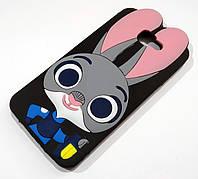 Чохол дитячий для Samsung Galaxy J5 Prime G570f силіконовий об'ємний іграшка зайчик Джуді чорний