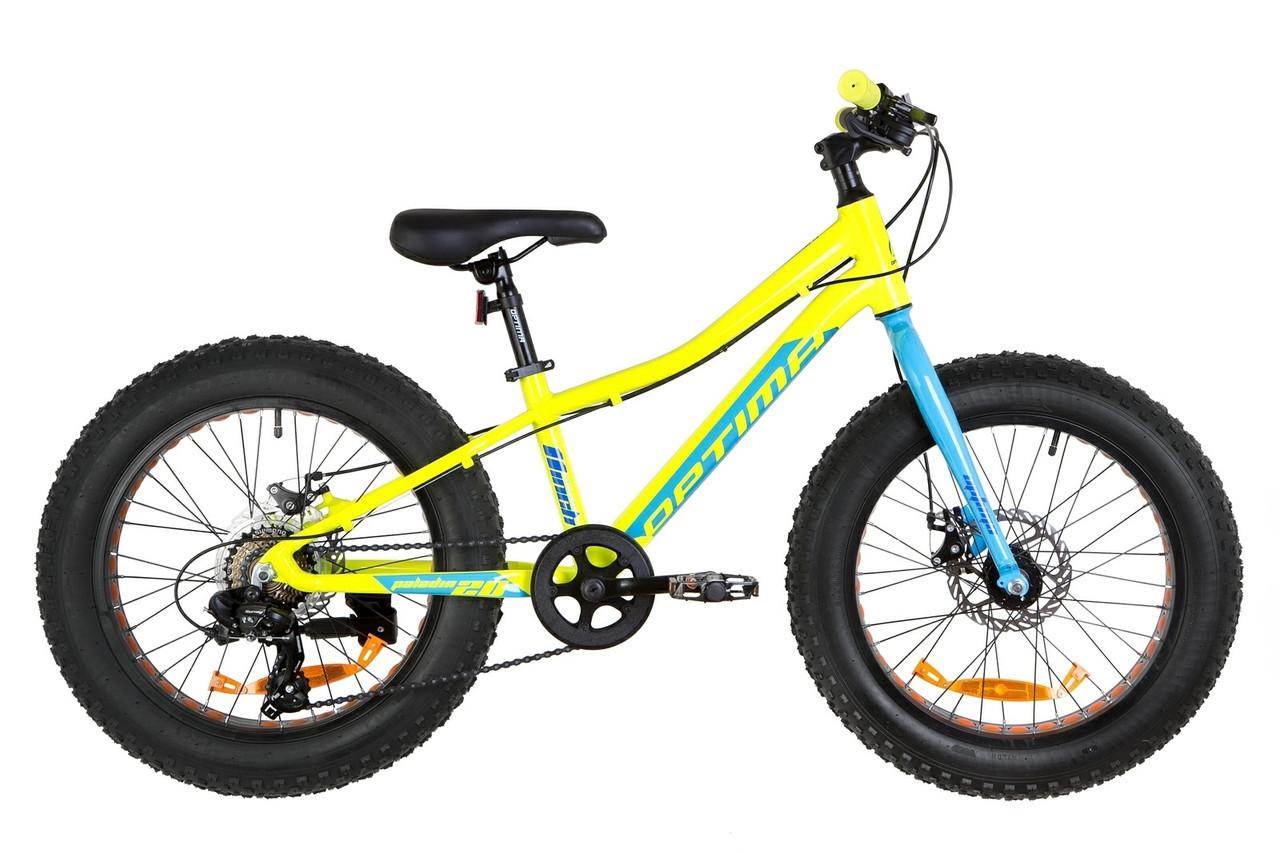 "Велосипед Optimabikes PALADIN DD 20"" 2019 желто-синий"