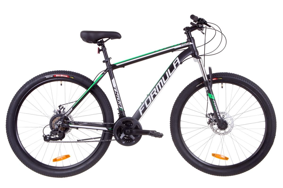 """Велосипед Formula THOR 2.0 DD 27.5"""" 2019 черно-зеленый"""