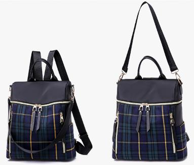 Сумка-рюкзак нейлон чорно-синій