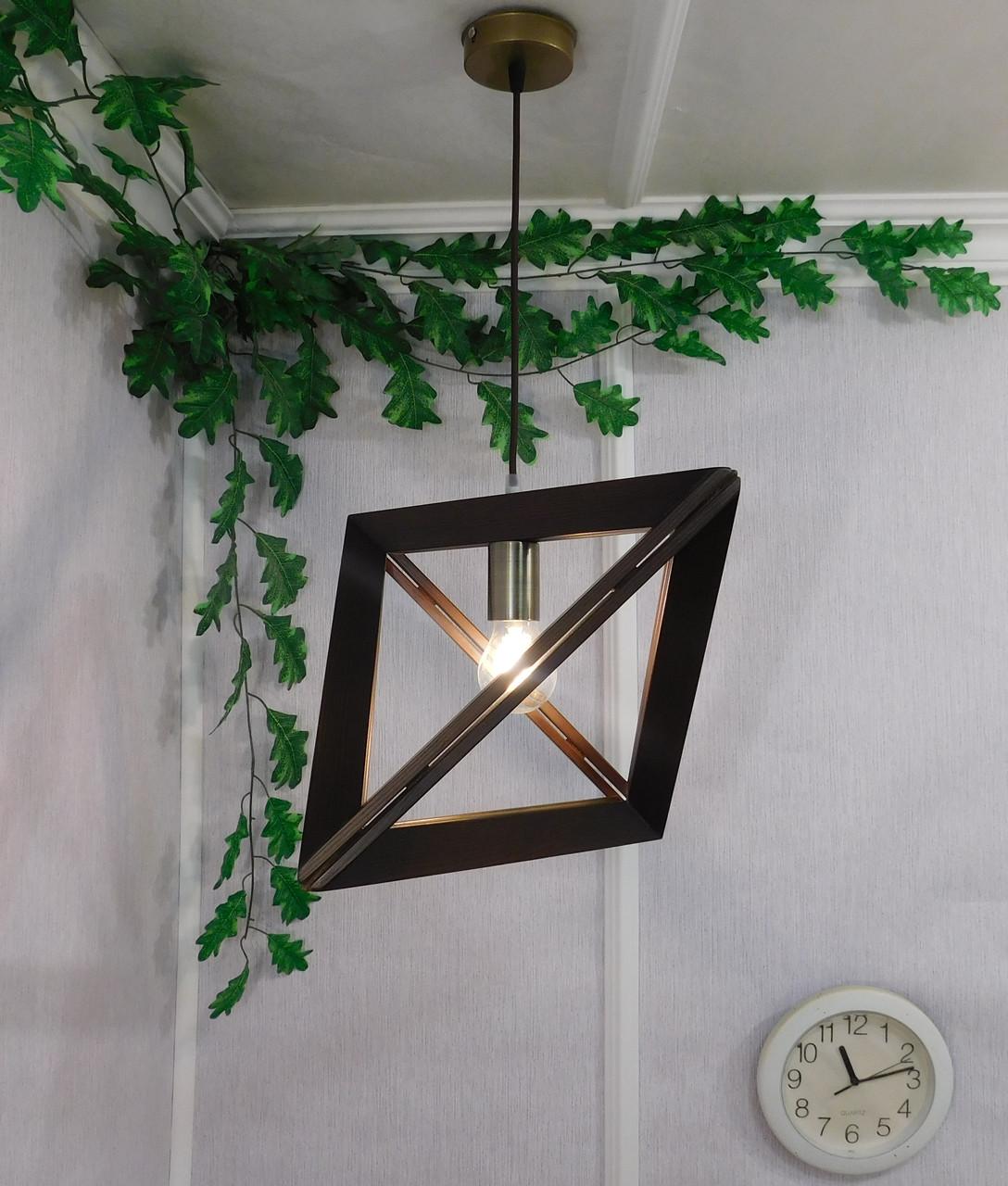 подвесной светильник из первосортного дерева треугольная форма современный стиль натуральное дерево Loft