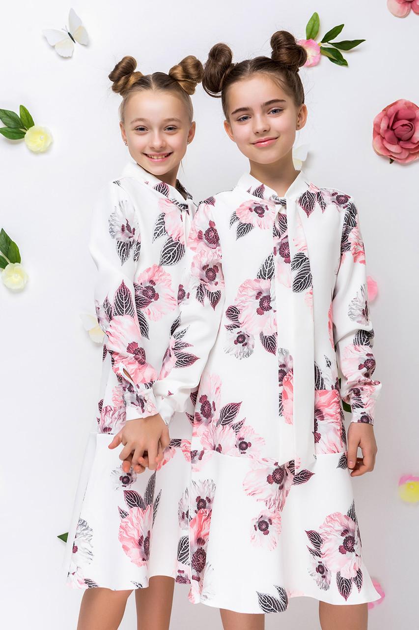 Детское платье для девочки L-12, размеры 134-164
