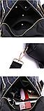 Сумка-рюкзак нейлон чорно-синій, фото 7