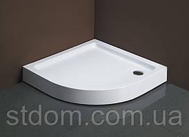 Полукруглый душевой поддон 80x80 см Dusel D202