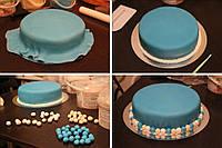 Мастика для обтяжки голубая МариАнна 1 кг