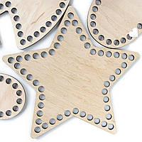 Деревянная заготовка звезда 20 см