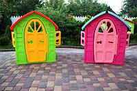 Play House будиночок для дітей зелений і рожевий Dorex 5075 детский домик