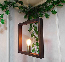 Подвесной светильник из первосортного дерева, современный стиль, квадратная форма, SQARE E27