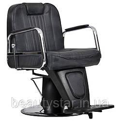 Чоловіче перукарське крісло Waszyngton Lux чорне