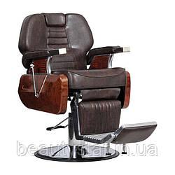 Чоловіче перукарське крісло Ambasciatori коричневе