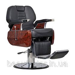 Чоловіче перукарське крісло Ambasciatori чорне
