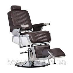 Чоловіче перукарське крісло Barber коричневе