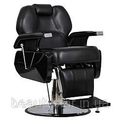 Чоловіче перукарське крісло Elite чорне