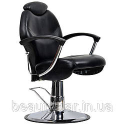 Чоловіче перукарське крісло Montreal чорне
