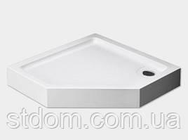 Пятиугольный; душевой поддон 90x90 см Dusel D402
