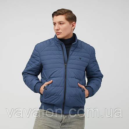 Куртка демисезонная под резинку Vavalon KD-193 ink-blue, фото 2