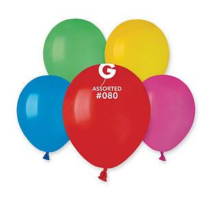Латексные воздушные шары A50 Gemar Италия, расцветка: пастель ассорти, Диаметр 5 дюймов/13 см, 100 штук в упак