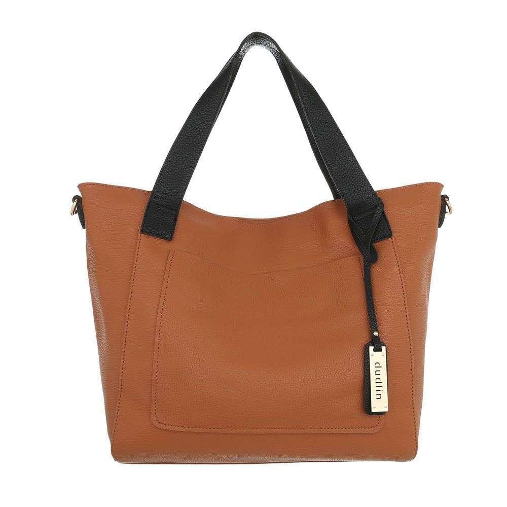 Женская сумка шоппер-cuoio - ТА-9435-3-cuoio